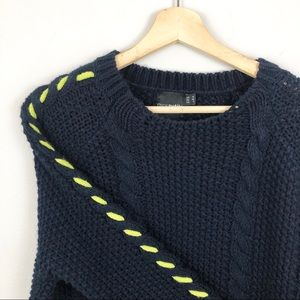 ASOS Chunky Cableknit Contrast Stitch Sweater